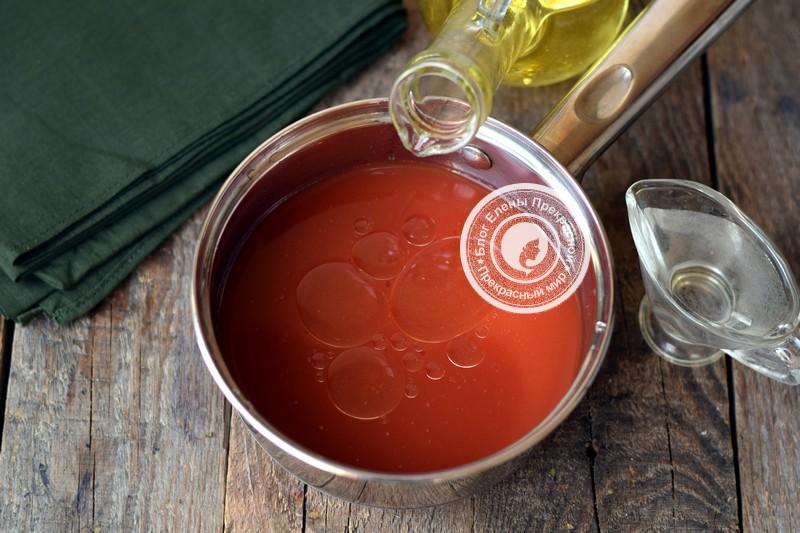 Огурцы в томатной заливке рецепт