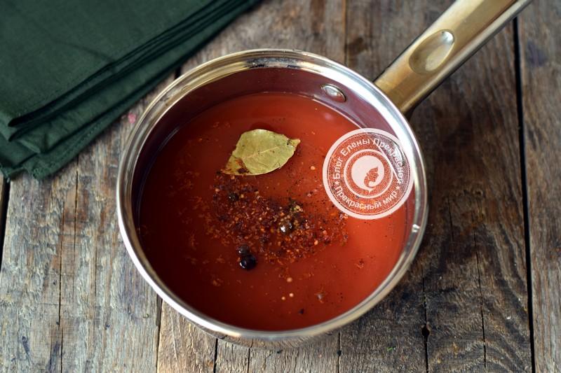 Огурцы в томатной заливке рецепт с фото