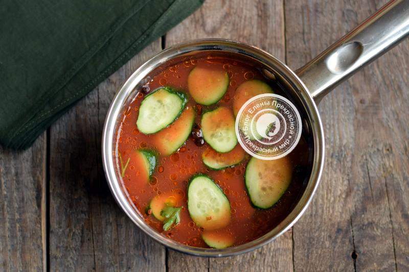 Огурцы в томатной заливке рецепт на зиму