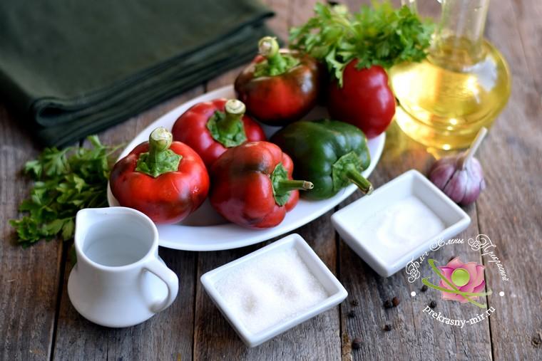 маринованный болгарский перец соломкой на зиму: продукты для приготовления