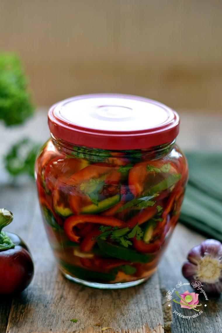 Маринованный болгарский перец соломкой на зиму: рецепт в домашних условиях