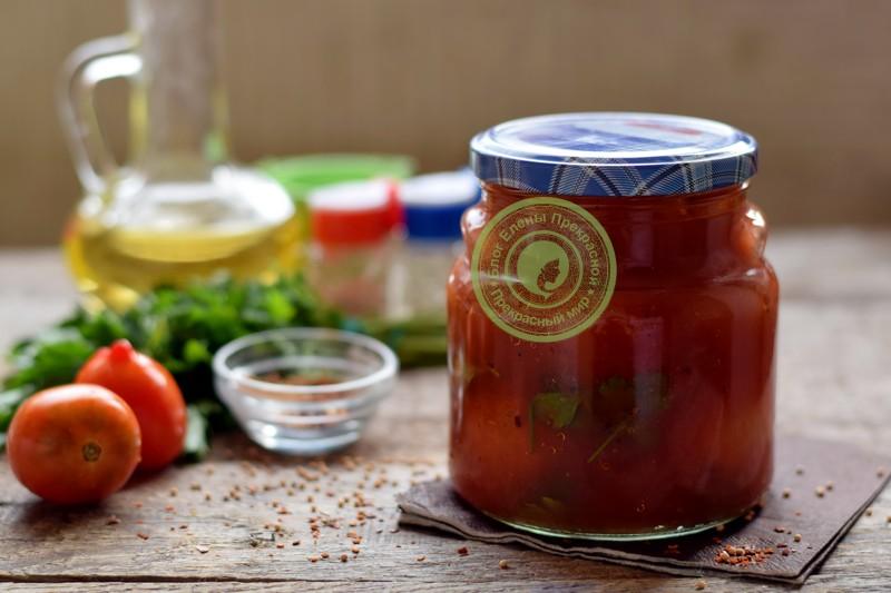 помидоры в собственном соку с томатной пастой рецепт в домашних условиях
