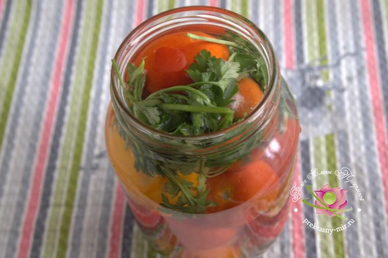 малосольные помидоры с чесноком и петрушкой рецепт с фото