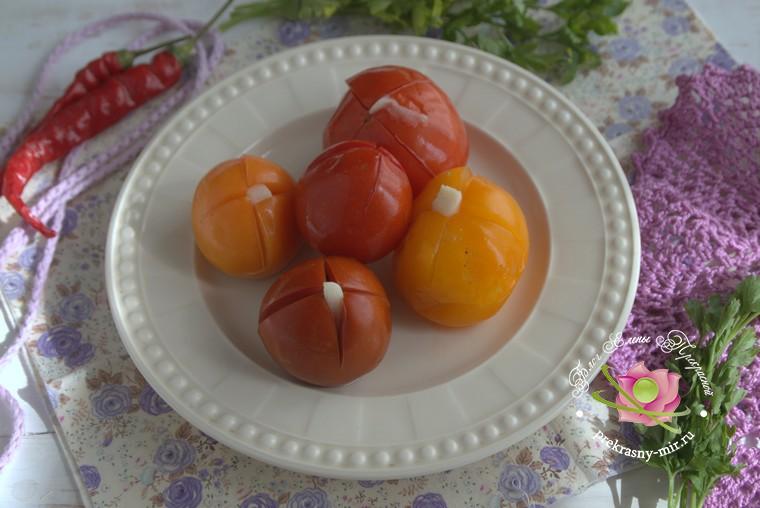 малосольные помидоры с чесноком и петрушкой рецепт в домашних условиях
