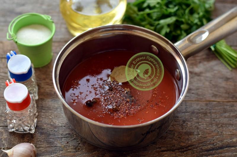 помидоры в собственном соку с томатной пастой рецепт