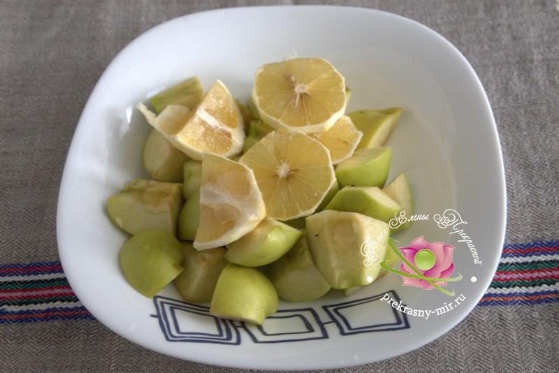 яблочное повидло с калиной и лимоном