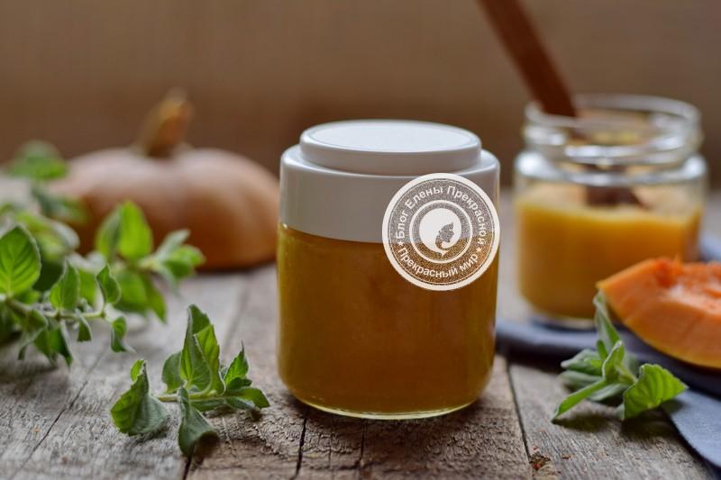 Пюре из тыквы и яблок на зиму рецепт в домашних условиях