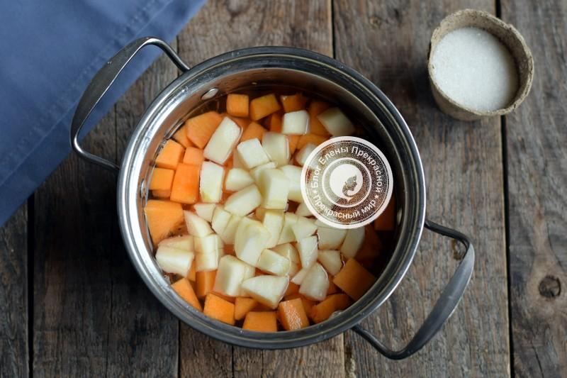 Пюре из тыквы и яблок на зиму рецепт с фото