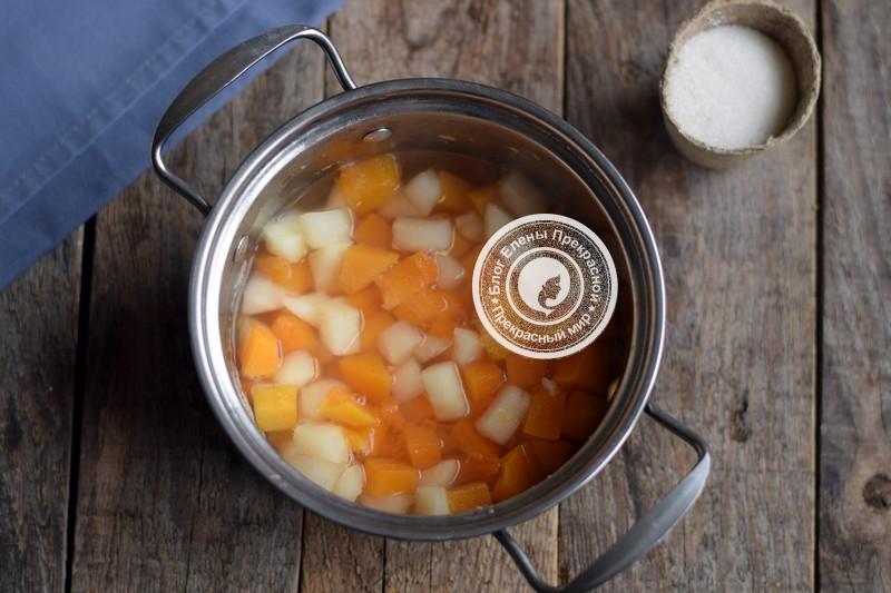 Пюре из тыквы и яблок на зиму рецепт
