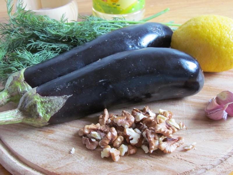 рулетики из баклажанов с орехами: продукты