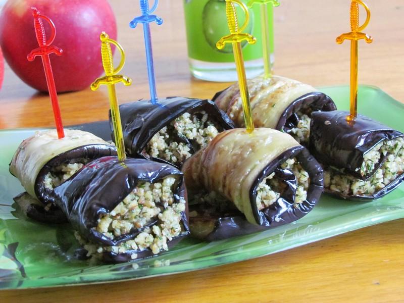 рулетики из баклажанов с орехами рецепт приготовления