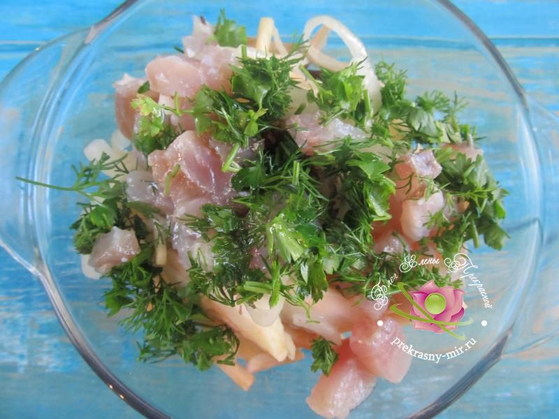 салат с селедкой рецепт в домашних условиях