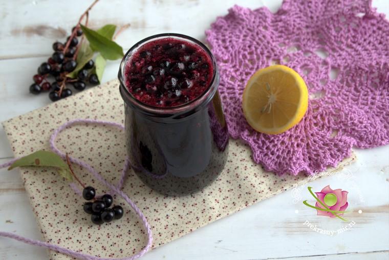 варенье из черемухи с лимоном и корицей рецепт