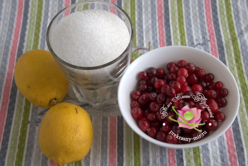 сырое варенье из клюквы на зиму: продукты