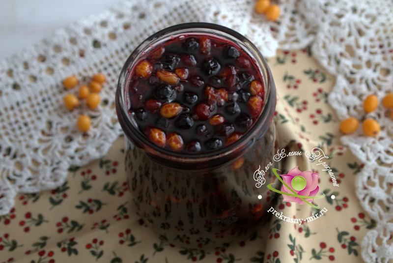 Варенье из облепихи и черемухи на зиму: рецепт в домашних условиях