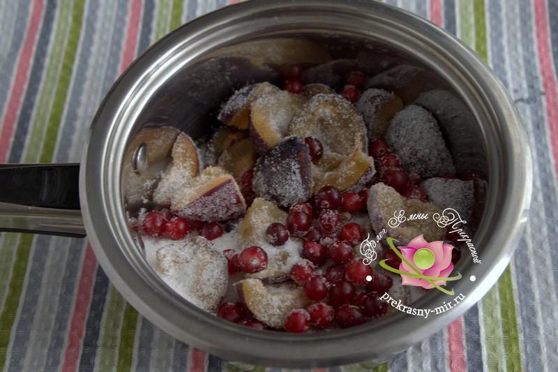 сливовое варенье с клюквой на зиму рецепт