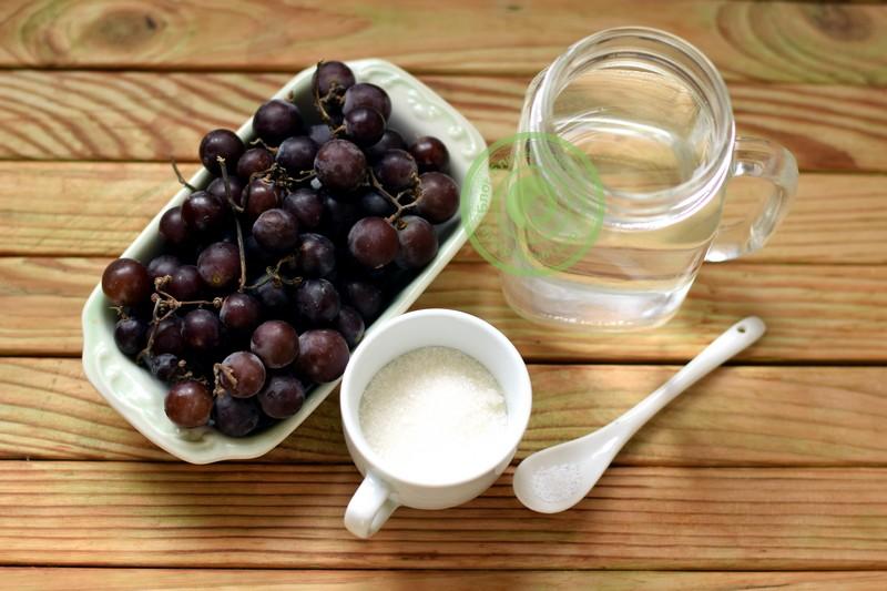 компот из винограда без стерилизации на зиму