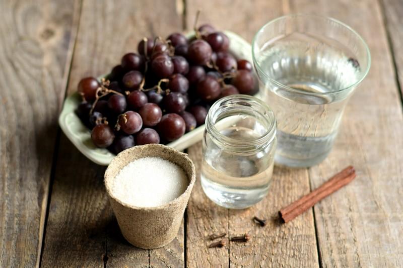 маринованный виноград на зиму: продукты