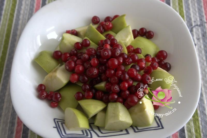 яблочное пюре с клюквой на зиму рецепт