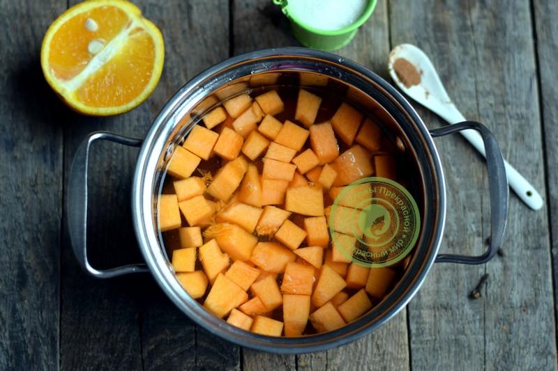 Тыквенный джем с апельсином рецепт