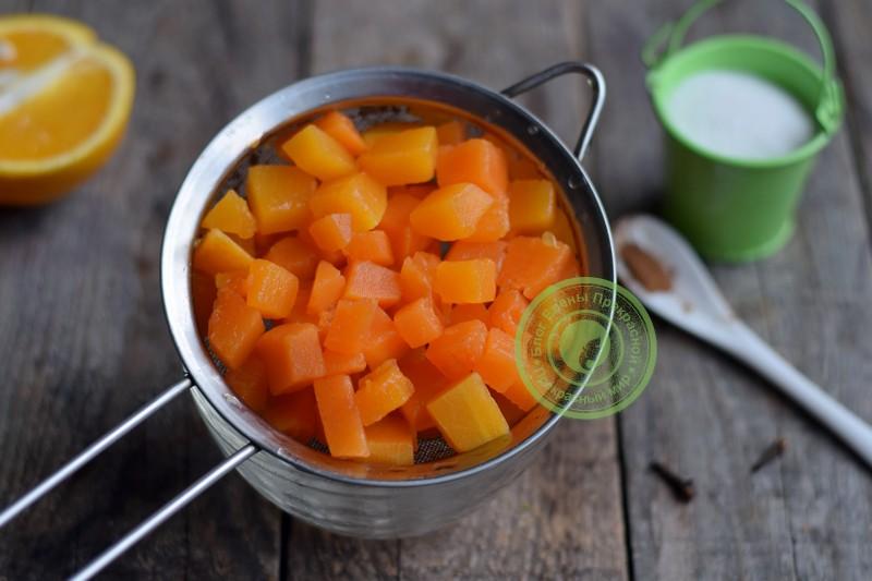 Тыквенный джем с апельсином рецепт с фото