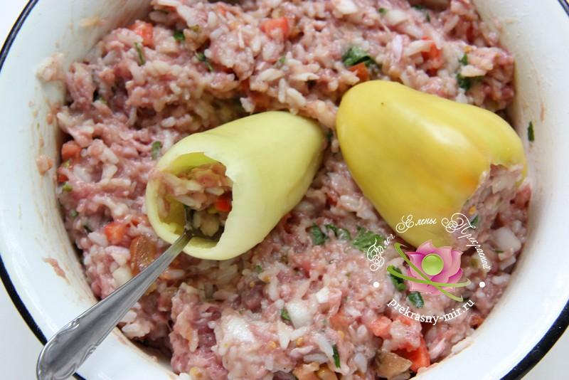 фаршированный болгарский перец рецепт