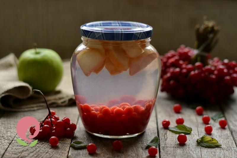 компот из калины и яблок рецепт в домашних условиях