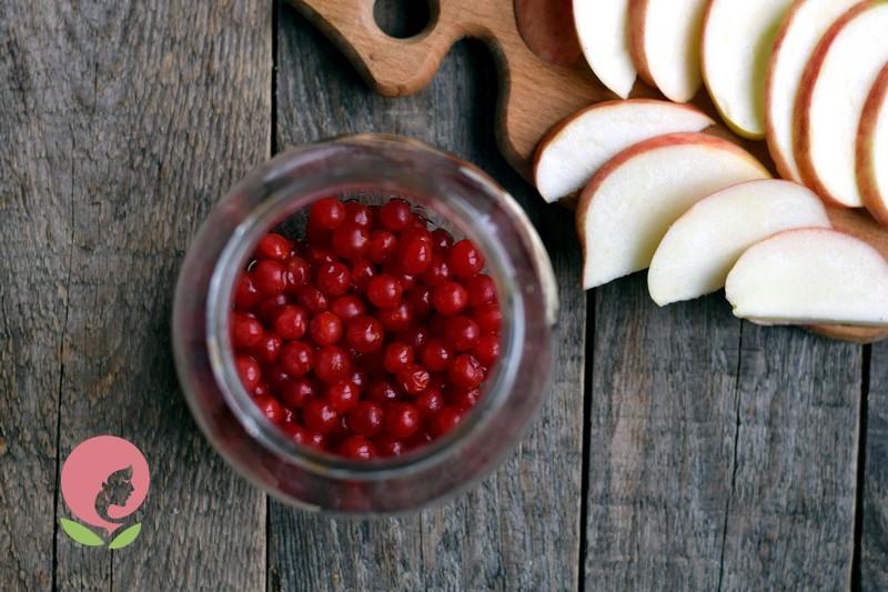 компот из калины и яблок рецепт с фото