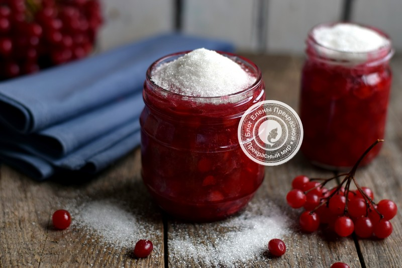 калина перетертая с сахаром на зиму рецепт в домашних условиях