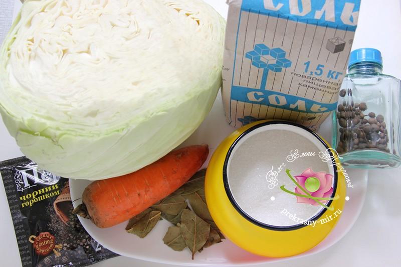 квашеная капуста в собственном соку: продукты