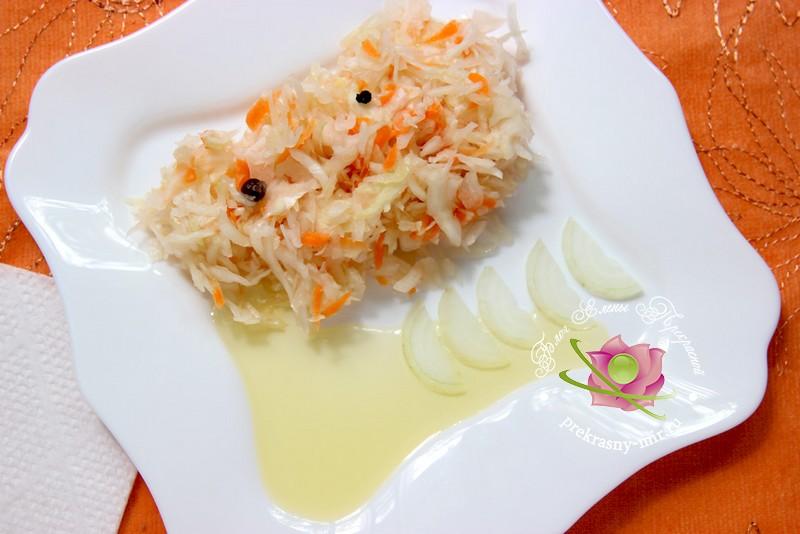 квашеная капуста в собственном соку рецепт в домашних условиях