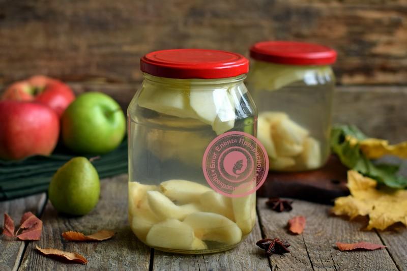 Компот из яблок и груш рецепт в домашних условиях