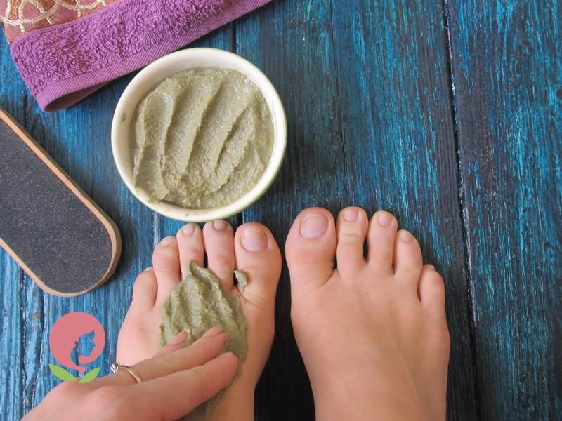Глиняное обертывание для ног и ступней с тыквой в домашних условиях