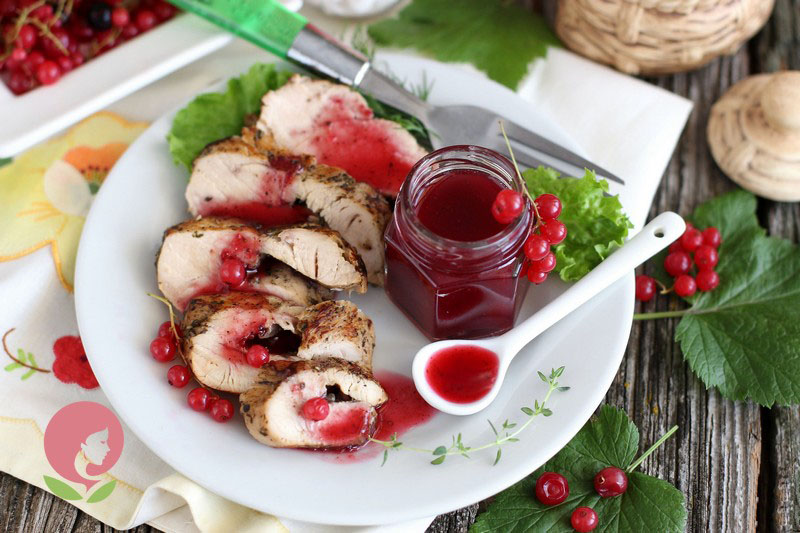 Рецепт соуса из красной смородины для мяса