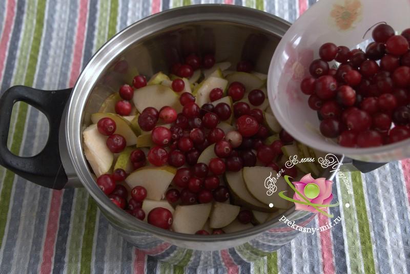 Варенье из груш и клюквы рецепт