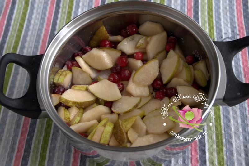 Варенье из груш и клюквы рецепт в домашних условиях