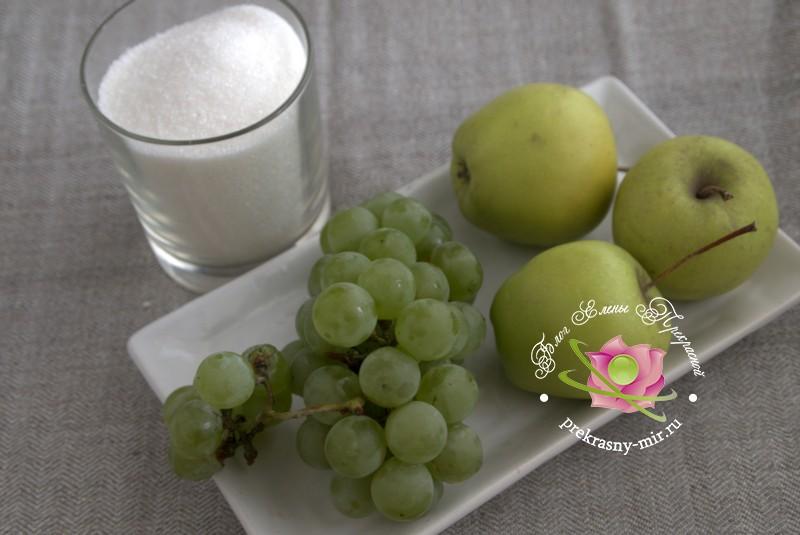 яблочное варенье на виноградном соке