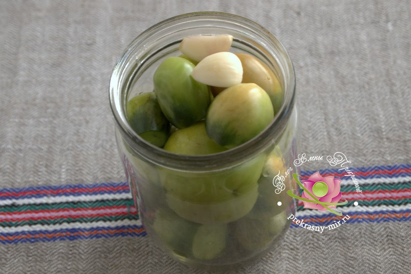 Консервированные зеленые помидоры рецепт