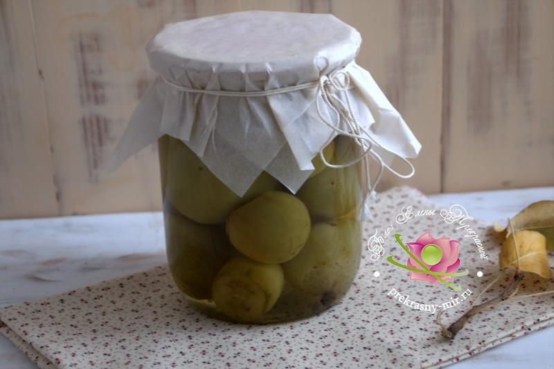 Консервированные зеленые помидоры рецепт в домашних условиях