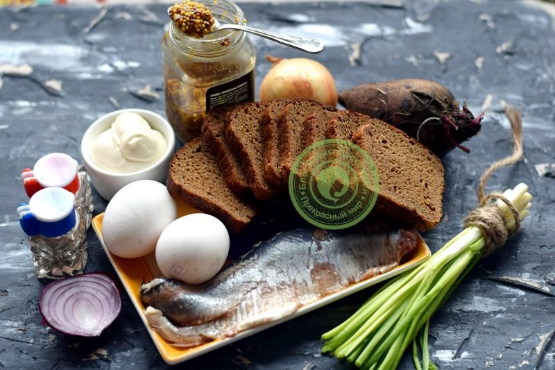 бутерброды с селедкой