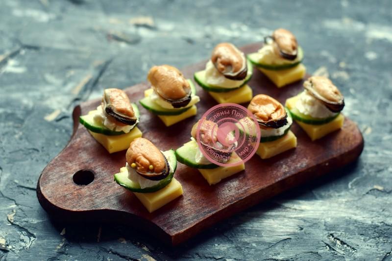 канапе с мидиями и оливками на шпажках рецепт на новый год