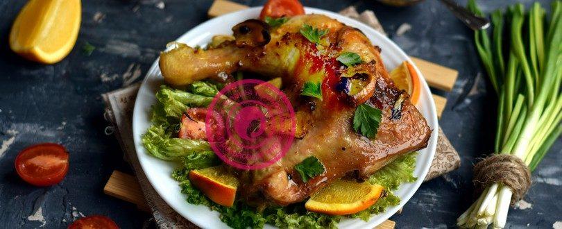 курица в медово-апельсиновом маринаде рецепт на праздничный стол