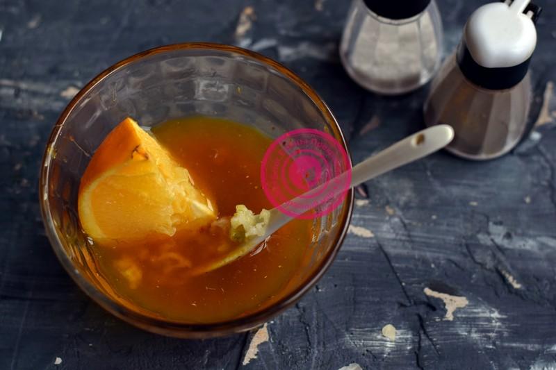 курица в медово-апельсиновом маринаде рецепт на новый год