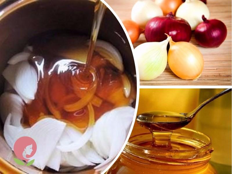 народное средство от кашля с луком и медом
