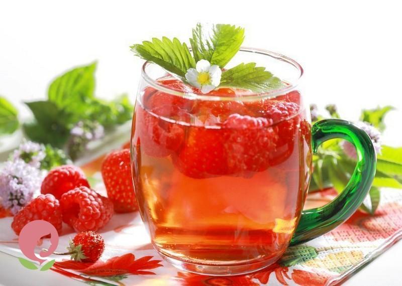 Жаропонижающий чай из малины при простуде
