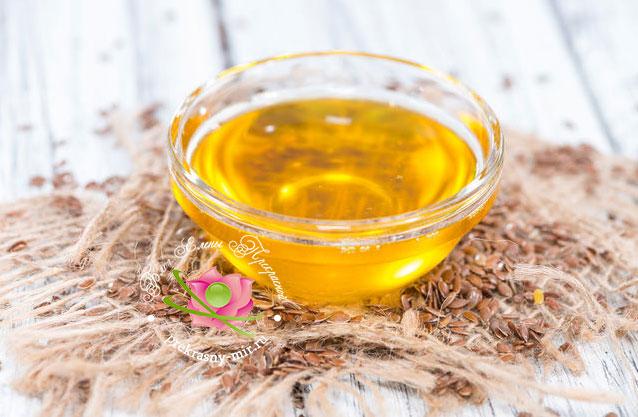 льняное масло в косметлогии