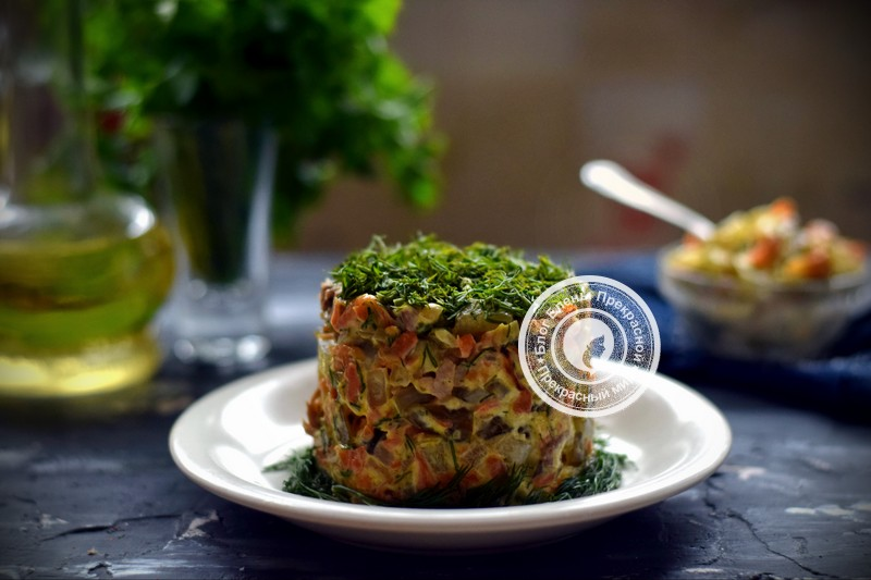 салат Обжорка рецепт на праздничный стол