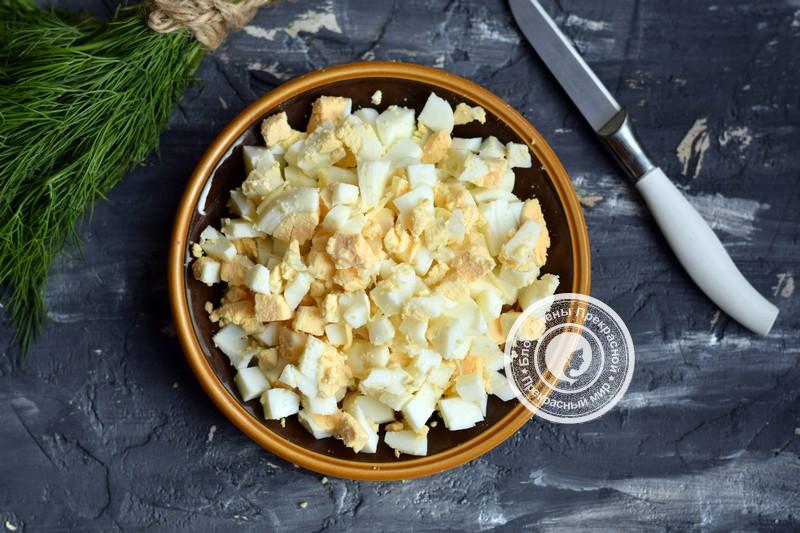 салат Оливье с курицей рецепт