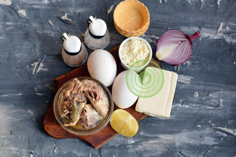Тарталетки с паштетом из сардин: фото рецепт на праздничный стол