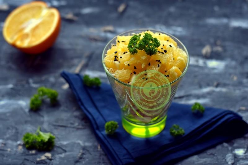 салат с апельсином и курицей рецепт на праздничный стол